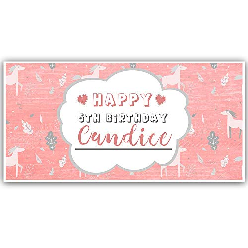 (Pony Birthday Personalized Banner Party Decoration)