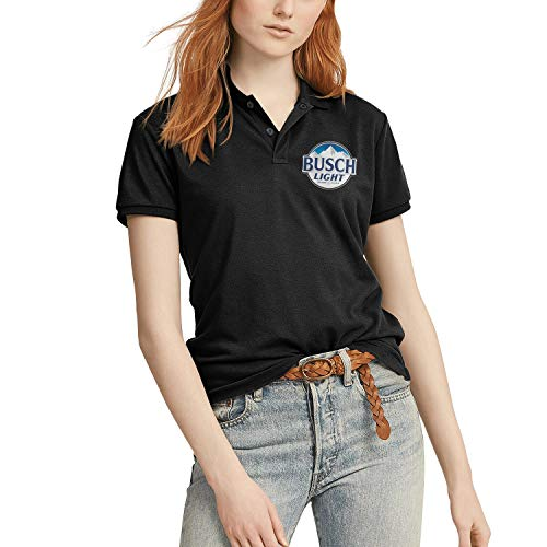 Anheuser Busch Light Women's Short Sleeve Polo T Shirts Round Neck Cool USA T Shirts Breathable Gym Tops ()