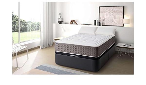 MAXCOLCHON Pack Colchon Luxe-Grafeno + Almohada + Canape Abatible 105x190: Amazon.es: Hogar