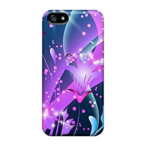 RogerKing Perfect Tpu Case For Iphone 5/5s/ Anti-scratch Protector Case (abstract Tulips)