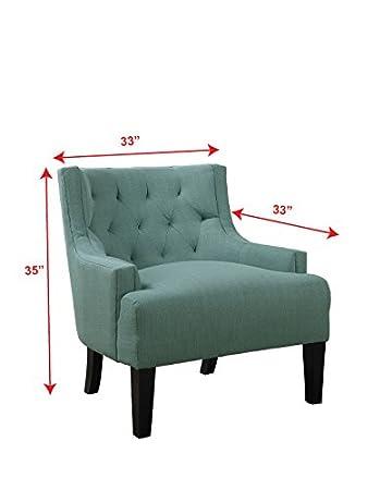Amazon.com: poundex - silla tapizada en microfibra, modelo ...