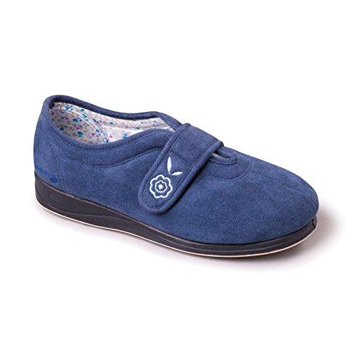 Grande Zapato Padders De Zapatillas Mujeres Azul Ee 'camilla' Anchura Libre Mezclilla Cuerno Talón Extra 20mm PqBXxgqw