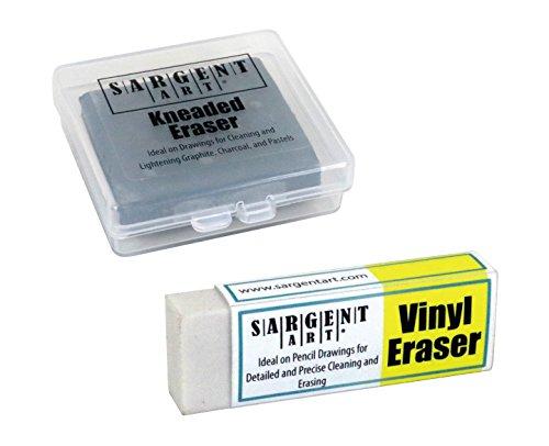 Sargent Art 36-0009 Set Kneaded Eraser & Vinyl Eraser (2 Pack)
