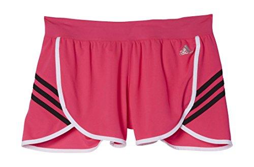 adidas AJ2140 Short Femme Rose/Blanc/Noir FR : L (Taille Fabricant : L)