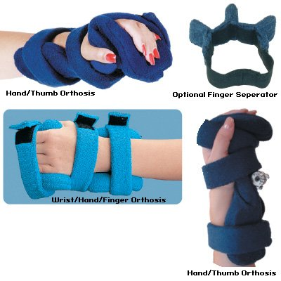 Comfy Wrist/Hand/Finger Orthosis - Hand/Thumb Splint, Adult Small, Navy by Rolyn Prest