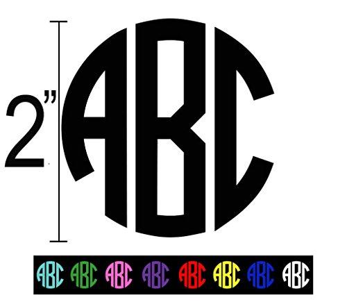 Custom Vinyl Decal Monogram Initials Computer Background