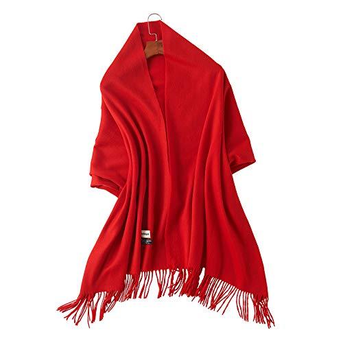 Tinta Grande Agvbtqxzf Unita Rosso Colletto Scialle Lungo A Femminile Primaverile Sciarpa Selvaggio APqrwPEg