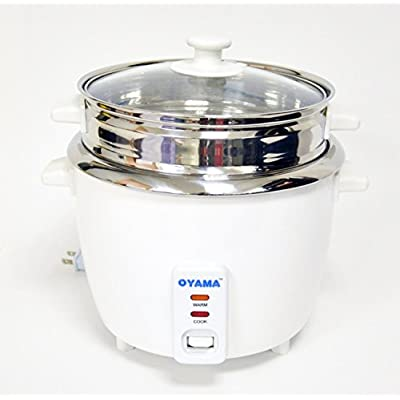 Click for OYAMA Stainless 16-Cup (Cooked) (8-Cup UNCOOKED) Rice Cooker, Stainless Steel Inner Pot, Stainless Steamer Tray (CNS-A15U)