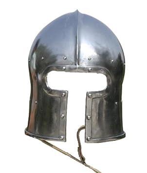 """Barbuta con visera en forma de """"T"""", Casco Bacinete Medieval, Juego"""