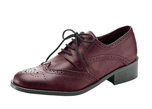 CHILLANY - Heine Damen-Schuhe Schnürschuh Rot Größe 43