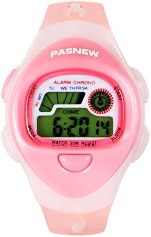 Hiwatch Waterproof Digital Sports Watch Kids Watches For Boys Girls Blue Pink