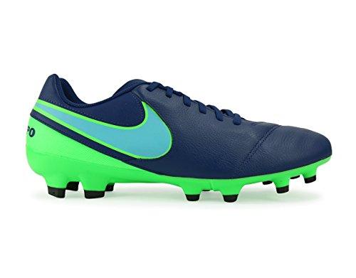 Nike Menns Tiempo Genio Ii Fg Kyst Blå / Polarisert Blå / Raseri Grønne Fotballsko