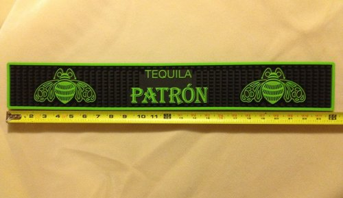 Patron Tequila Professional Series Signature Green Bar Rail Runner Drip Mat by Patron Distillery