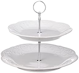 Lenox Unisex French Perle Tiered Server White Serveware