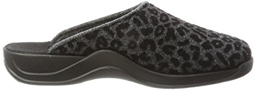 Femme Chaussons Gris Rohde Vaasa Mules Anthracite D vIgRnx