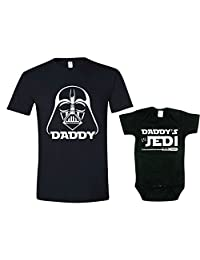 Gift for New Dad, Inspired by Star Wars Shirt Set, Jedi Shirt, Mens Lg & 3-6m