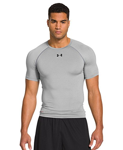 Men's HeatGear Sonic Compression Short Sleeve, Forest Green