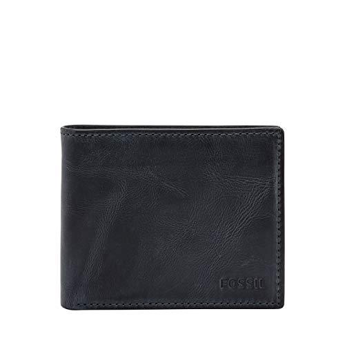 Fossil Men's RFID Flip ID Bifold Wallet, Navy, 4.5