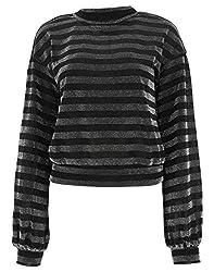 Rta Women S Wh82687019stsv Black Viscose Sweater