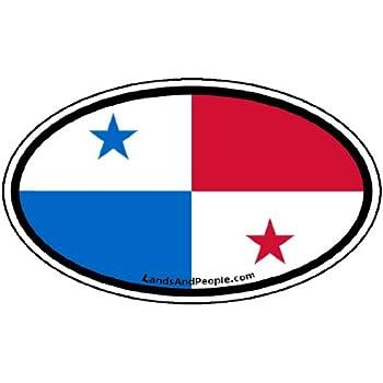 Panama flag car bumper sticker decal oval