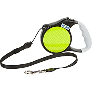 Retractable dog leash 16FT (5mt) small - medium color black and yellow