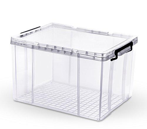JYKOO Una Variedad De Tamaños/Cuartos Transparente Caja De Almacenamiento Transparente Cubierta Blanca para - Escombros,...
