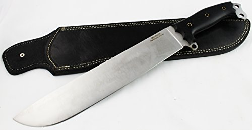 "D2 Machete Knife - Moorhaus Handmade 17.5"" Total Length - Includes Leather Sheath"