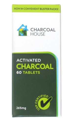 Activated Charcoal Tablets USP In Blister Packs - 60 Tabs - Box