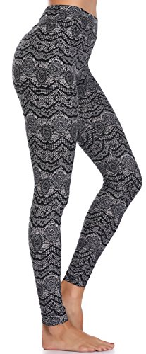 BAILYDEL Women's Ultra Soft Printed Ankle Leggings High Waist Seamless Stretch Pants Size XS-L
