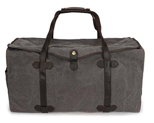 incrociate di Grigio Tela Rzl multifunzionale Borse e Mens capacità portatile viaggio ricamato borsa da grande 7q5qvw0Ux