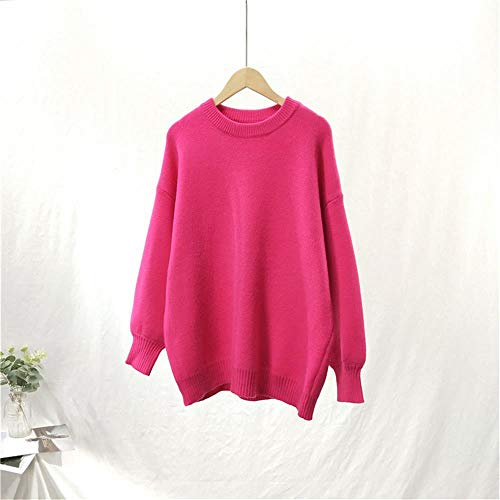 Corta Invernale Color Girocollo Manica Donna Lunga Pullover Caramella Spricen n8pIq5