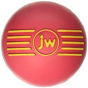 JW Pet Company iSqueak Ball Rubber Dog Toy, Medium, Colors Vary
