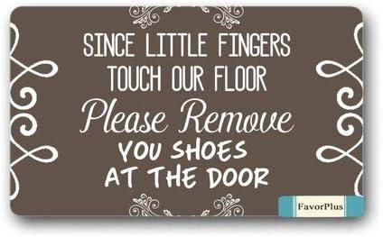 Funny Doormat We re All MAD HERE Entrance Outdoor Indoor Non Slip Decor Floor Door Mat Area Rug for Entrance 18×30 inch