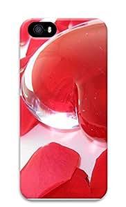 iPhone 5 5S Case Transparent Heart 3D Custom iPhone 5 5S Case Cover