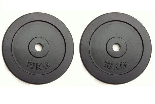 Gewichte Plates Weight Training Disc 2 x 10kg Hantelscheiben Gusseisen 2 x 10kg Plates (20kg insgesamt) Standard