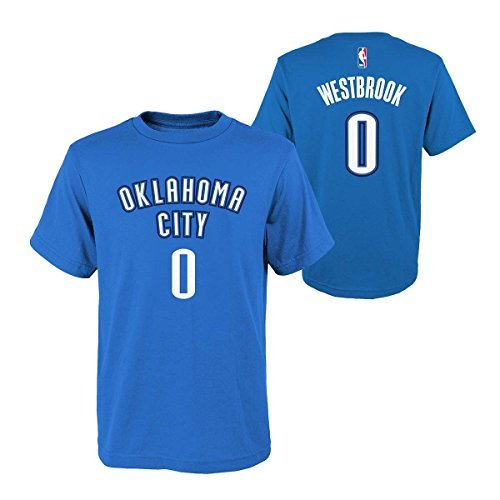 Nba Youth 8 20 Performance Game Time Team Color Player Name And Number Jersey T Shirt  Large 14 16  Russell Westbrook