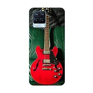 "TRUEMAGNET Premium ""Amazing Red Guitar"" Printed Hard Mobile Back Cover for Realme 8 / Realme 8 Pro, Designer…"
