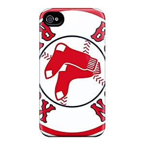 Best Hard Phone Covers For Iphone 4/4s With Custom High-definition Boston Red Sox Skin LavernaCooney