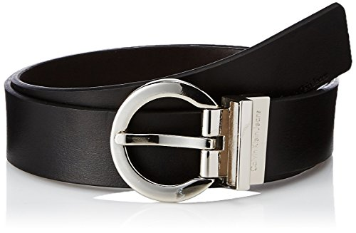 Calvin Klein Women's Basic Reversible Belt,Black/Brown,Medium