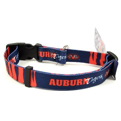 AUBURN TIGERS ADJUSTABLE DOG PET COLLAR SZ L