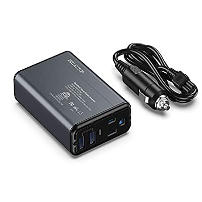 ISELECTOR 150W Car Power Inverter, DC 12V to 110V AC Converter with 2 USB Ports Charger, Thinner Design with ETL Listed Car Adapter : Electronics