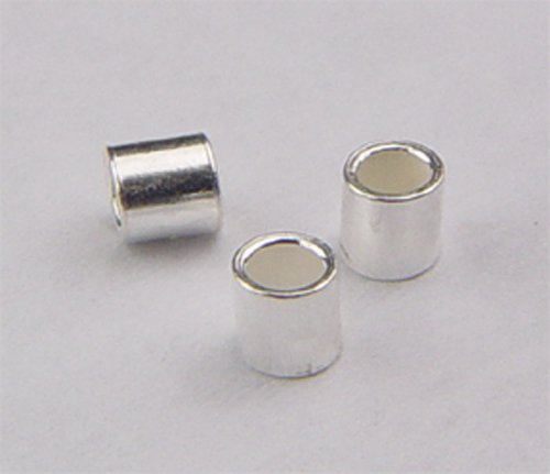 sterling silver crimp tube 4mm @10 pieces