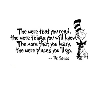 Amazon Removable Quotes Dr Seuss ''The More You Read The More Amazing Reading Quotes For Kids