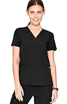 FIGS Casma Three-Pocket Scrub Top for Women – Tailored Fit, Super Soft Stretch, Anti-Wrinkle Medical Scrub Top