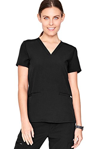FIGS Casma Three-Pocket Scrub Top Women – Tailored Fit, Super Soft Stretch, Antimicrobial, Anti-Wrinkle Medical Scrub Top