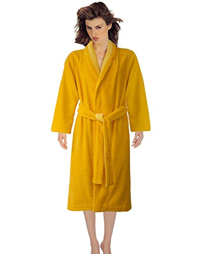 Armani International Shawl Bridesmaids Lounge Robe Set Medium Daffodil-Golden Haze | Crafted in Europe by Armani International