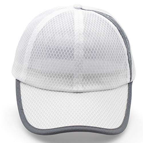 ROWILUX Unisex Summer Breathable Quick Dry Mesh Baseball Cap Sun Hat,White