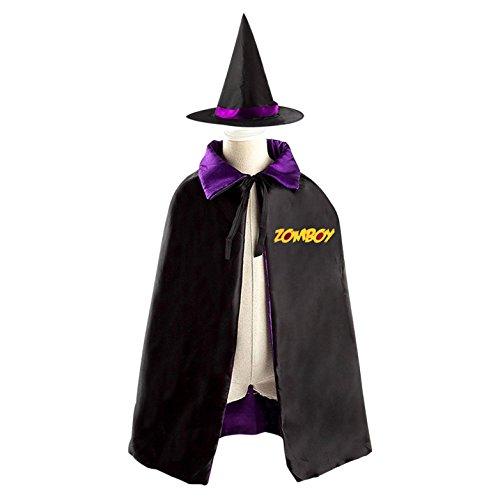 Word Girl Costume Pattern (Word Zomboy Halloween Costume Wizard Witch Children Cloak Cosplay Cape Hat)