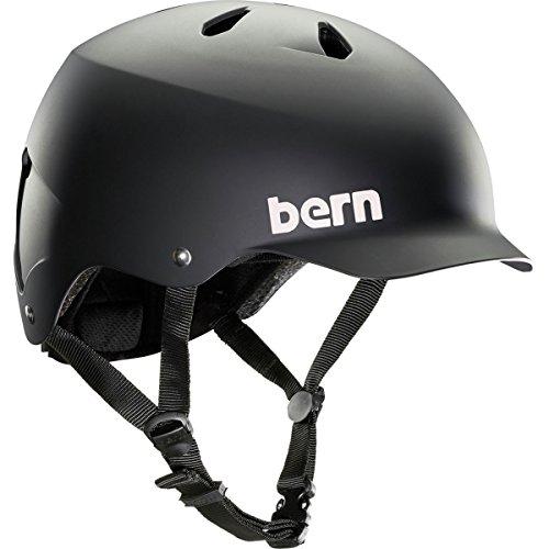 Bern Watts MIPS Helmet - Matte Black/Black Liner Small (Audio Snowboard Hard Hat)