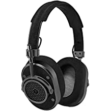 Master & Dynamic MH40 Premium Over-Ear Headphones, Award-Winning Closed-Back Wired Headphones with Superior Sound Quality, Gunmetal/Black Leather